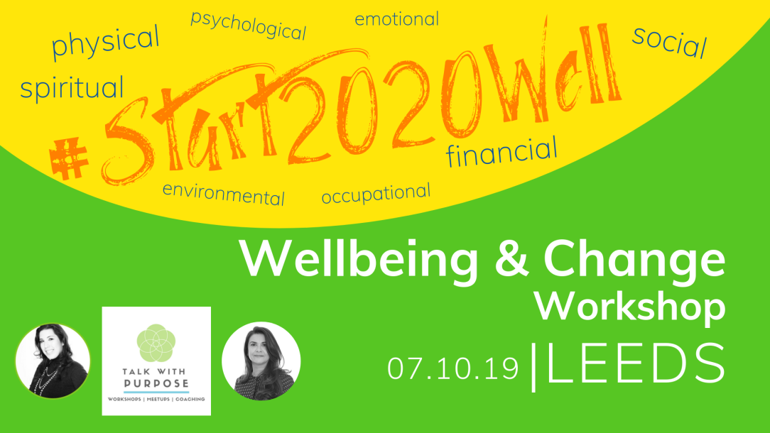 #Start2020well wellbeing & change workshop LEEDS